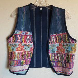 Vintage boho embrodiered vest